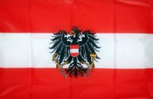 AUSTRIA WITH CREST - 8 X 5 FLAG